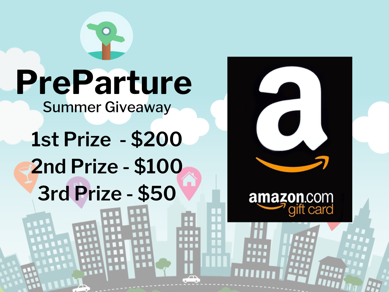 Win a $200 Amazon Gift Card in the PreParture Summer Giveaway